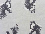 Pferde Jersey , hellgrau