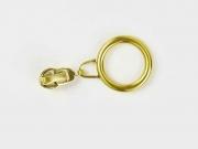 Schieber mit Ring für Reißverschluss mit 6,5 mm Spirale, GOLD
