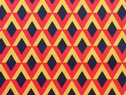 Amara Jersey Rauten, dunkelblau/rot/gelb