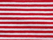 Ringeljersey 3mm - rot & weiß (garn-gefärbt)