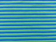 RESTSTÜCK 70 cm Jersey Streifen Multicolor, blau türkis grün hellblau