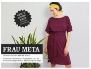 Schnittmuster lässiges Kleid mit breitem Gürtel Frau Meta Studio Schnittreif