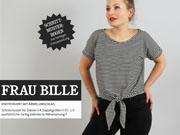 Frau Bille Knotenshirt Schnittmuster Studio Schnittreif