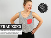 Frau Koko Sommertop Webware Schnittmuster