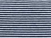 RESTSTÜCK 44 cm Viskosejersey Ringel 1mm, schwarz weiß