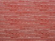 Jersey Streifen blurry stripes, weiß terracotta