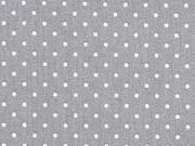 Baumwollstoff kleine Punkte beschichtet Petite Dots, weiß grau