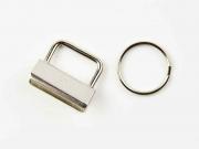 Schlüsselband-Rohling 25 mm, silber