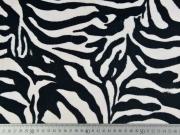 Dekosamt Stoff Zebramuster Animal Print,schwarz cremeweiß
