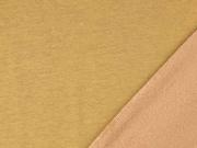 Sweatstoff Alpenfleece uni, ockergelb