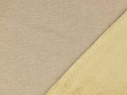 Alpenfleece Sweatstoff uni, camel