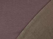 Alpenfleece Sweatstoff uni, dunkelbraun