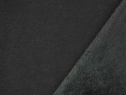 Alpenfleece Sweatstoff uni, schwarz
