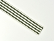 Gurtband Streifen 4 cm, armygrün weiß