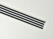 Gurtband Streifen 4 cm, schwarz weiß