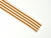 Gurtband Streifen 4 cm, ockergelb weiß