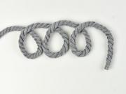 gedrehte Kordel dick 8 mm, grau