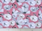 Jerseystoff Pusteblumen Digitaldruck, altrosa