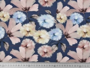 Jerseystoff Pusteblumen Digitaldruck, dunkles jeansblau