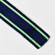 Webband Streifen 25 mm, neongrün dunkelblau