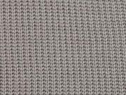RESTSTÜCK 85 cm Strickstoff Baumwolle gerippt, taupe