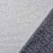 Sweatstoff Alpenfleece uni, hellgrau meliert