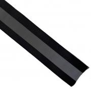 Reflektorband Ripsband Streifen 2.5 cm, silbergrau schwarz