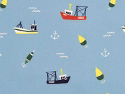 RESTSTÜCK 62  cm Softshell Boote Anker Wellen, hellblau