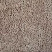 Teddyfleece Teddyfell aus Baumwolle, hellbraun