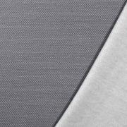 Jacquard Sweatstoff Drizzle Kästchenmuster, weiß grau