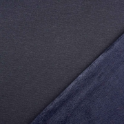 Alpenfleece Sweatstoff uni, nachtblau