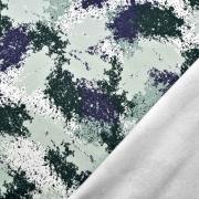 Sweatstoff Farbflecken Farbkleckse, dunkelblau grau mintgrün