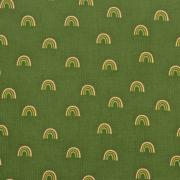 Feincord Stoff Regenbögen, moosgrün