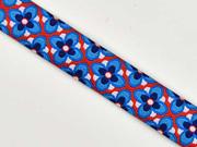 Webband Anemone Beanie Lila-Lotta, blau-rot