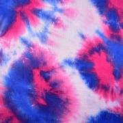 Musselin Stoff Baumwollstoff Batik Look, blau pink