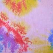 Musselin Stoff Baumwollstoff Batik Look, gelb pink rosa