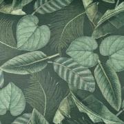 Outdoorstoff Dralon® Teflon  tropische Blätter, grün dunkelgrün