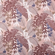 Bio-Sweatstoff tropische Blätter Pflanzen, helles altrosa