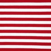 Sweatstoff French Terry Streifen, rot weiß