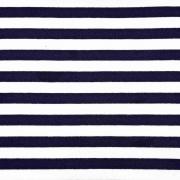 Sweatstoff French Terry Streifen, dunkelblau weiß