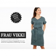 Kleid V-Ausschnitt Schnittmuster Damen FRAU VIKKI Studio Schnittreif
