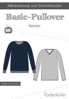 Schnittmuster Basic Pullover HERREN Fadenkäfer