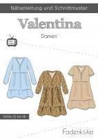 Schnittmuster Boho Kleid Valentina DAMEN Fadenkäfer