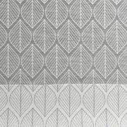 Dekostoff Blätter Jacquard Doubleface, cremeweiß grau
