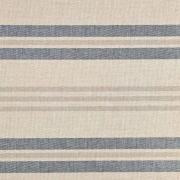 Dekostoff Streifen Leinen Optik, dunkelblau natur