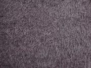 RESTSTÜCK 159 cm Fleece Stoff mit Fransen, mauve (lilagrau)