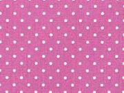 Baumwollstoff kleine Punkte beschichtet Petite Dots, weiß beere
