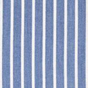 RESTSTÜCK 2 m Jeansstoff Streifen, weiß jeansblau mit kleinem Webfehler