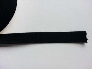 Gurtband Baumwolle 2,5 cm breit, schwarz