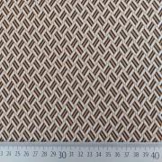 Jerseystoff Jacquard Strickjersey grafisches Muster, creme hellbraun schwarz